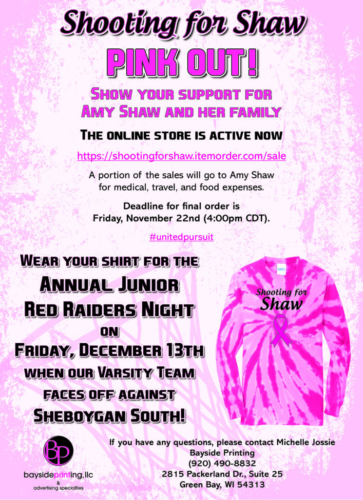Shooting for Shaw Pink Out!
