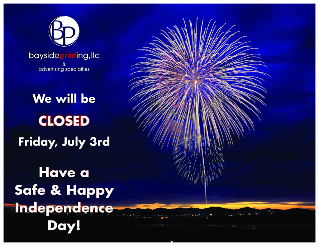 Closed Friday, July 3rd